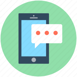 chat bubble, mobile chat, mobile chatting, mobile phone, sms icon