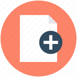 add file, add sheet, add sign, compose, create icon