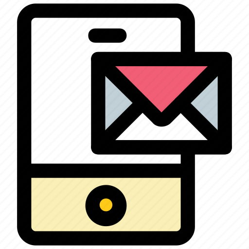 email, mobile communication, mobile message, mobile sms, received message icon