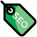 keywording, marketing, search engine optimization, seo, seo tag icon