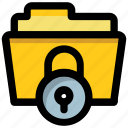 data encryption, data privacy, confidential files, data protection, confidential folder icon