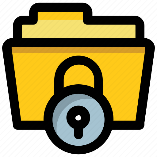 confidential files, confidential folder, data encryption, data privacy, data protection icon