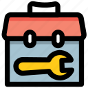 repairing, tool bag, engineering, maintenance, tool kit icon