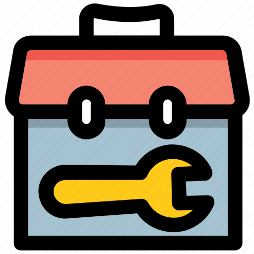 engineering, maintenance, repairing, tool bag, tool kit icon