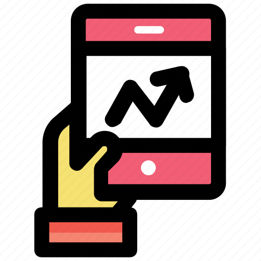mobile app, mobile graph, mobile infographic, mobile ui, technology growth icon