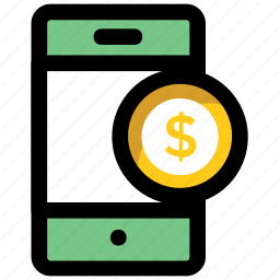 checkout, mcommerce, mobile banking, modern banking, online banking icon