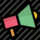 announcement, bullhorn, loudhailer, loudspeaker, megaphone icon