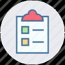 checklist, clipboard, digital marketing, list, shopping lost