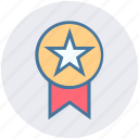 award, award ribbon, badge, ranking, star, star badge icon