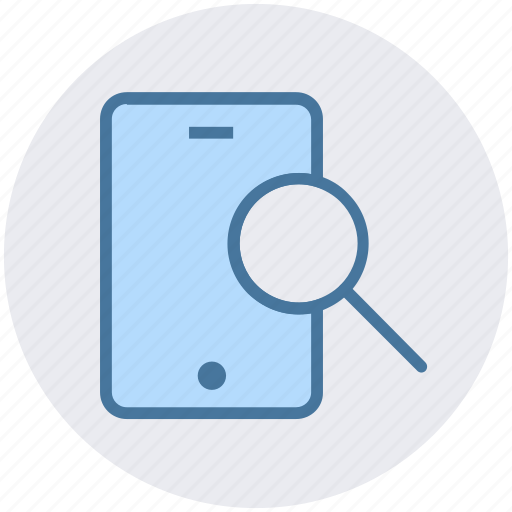 find, magnifier, mobile, mobile scanning, searching, smartphone icon
