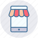 digital marketing, mobile, online shopping, phone, store icon