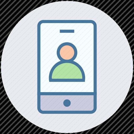 app, info, mobile, mobile account, profile, smartphone, user icon