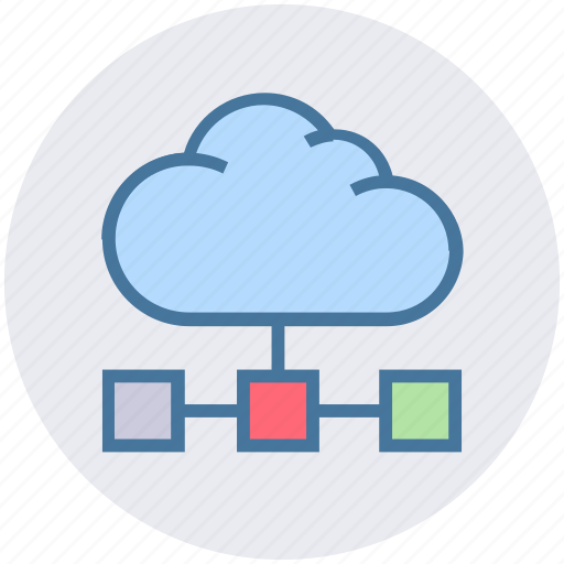 cloud, connection, data, digital, network icon