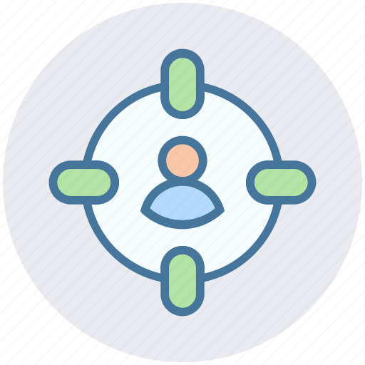 aim, customer target, digital, marketing, seo, target user, user icon