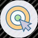 arrow, circle, cursor, digital, mouse arrow, mouse click, pointer arrow icon
