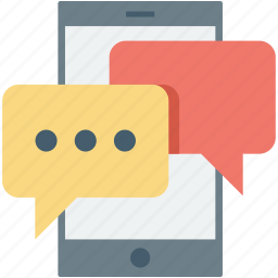 message, mobile, mobile chatting, mobile massage, speech bubble icon