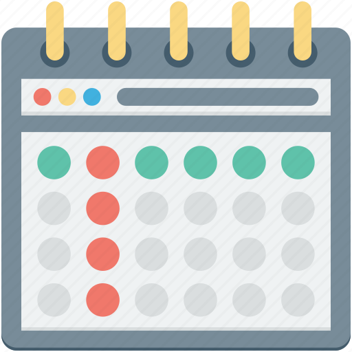 calendar, daybook, schedule, timeframe, yearbook icon