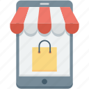 commerce, mobile, online shop, online store, shopping icon