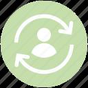 user, refresh, sync, reload, arrows, digital