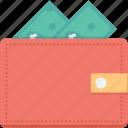 wallet, billfold wallet, cash wallet, purse, money wallet