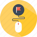 clicker, flag, interface, money, mouse, profit, video icon