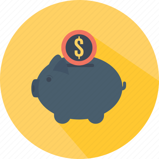 bank, coin, funds, guardar, money, piggy, save, savings icon