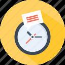 clock, conversation, money, profit, square, time, work icon