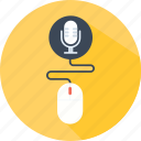 clicker, microphone, mouse, radio, recording, sound, voice icon
