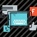 advertising, campaign, communication, marketing, media, social, tablet