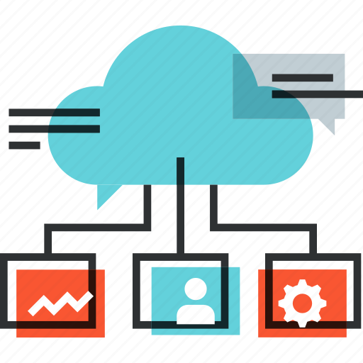 advertising, cloud, communication, connection, content, marketing, media icon