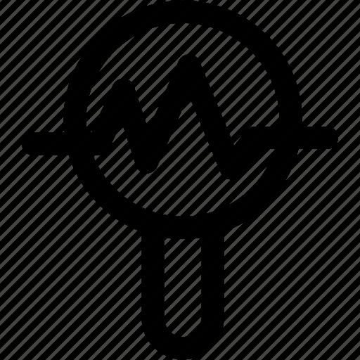 analytics, metrics, search icon icon