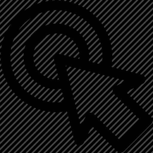click, cpc, target icon icon
