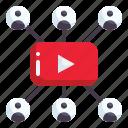 viral marketing, conversation, communications, marketing, communication, video, media icon