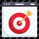 online marketing, target, browser, online advertising, online, marketing, business icon