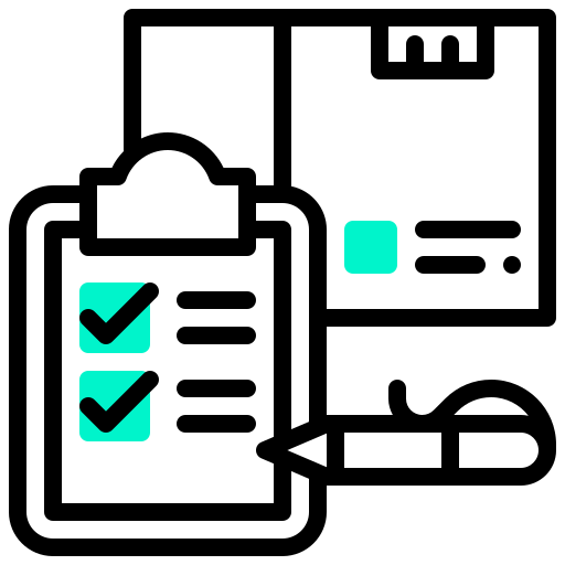 box, checklist, export, management, package, pen, report icon
