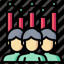 analysis, graph, human, man, people, teamwork icon