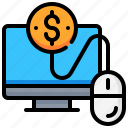 click, computer, currency, dollar, money, pay icon
