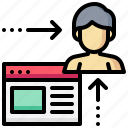 browser, human, man, visitor, web, website icon