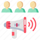 advertising, customer, human, man, marketing, megaphone icon