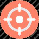 aim, crosshair, focus, goal, target icon