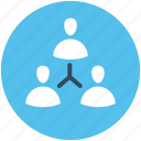 business people, connected people, online community, organization, people hierarchy icon