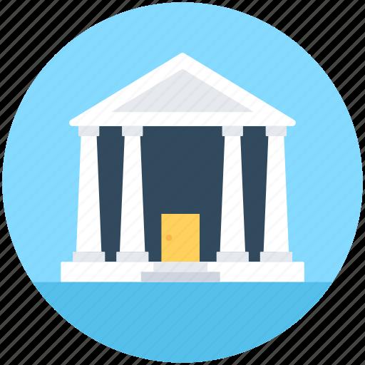 Bank, building, columns building, court, real estate icon - Download on Iconfinder