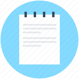 article, jotter, notebook, notepad, paper icon