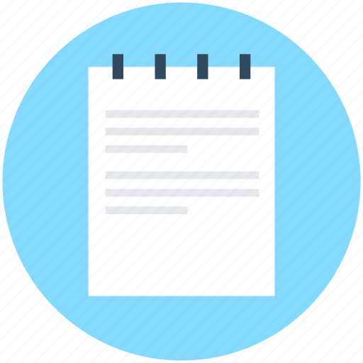 Article, jotter, notebook, notepad, paper icon - Download on Iconfinder