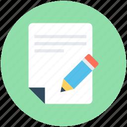editor, pen, script writing, writing article icon