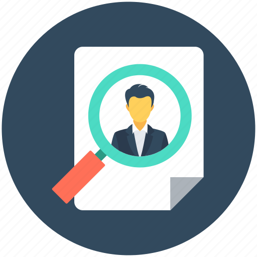 Find person, find user, magnifier, search person, user search icon - Download on Iconfinder