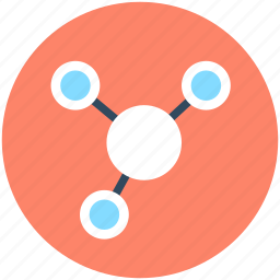 connected, hierarchy, network, nodes, seo icon