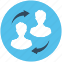 communication, discussing, marketing, talking, users icon
