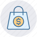bag, cash, digital marketing, dollar, money bag icon
