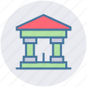 bank, building, court, digital building, digital marketing, government icon